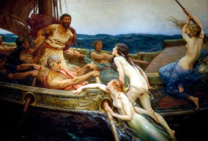 Ulysses and the Sirens door Herbert Draper (1909)