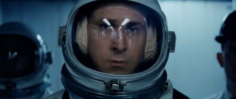 De eerste mens op de maan in First Man